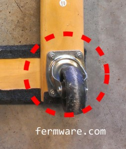 Rotation of caster wheel