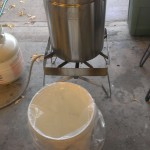 003-Bucket Liners - bucket ready for wort