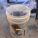 003-Bucket Liners - wort in bucket