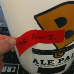 005-Fermenter Labels - pulling gaffers tape off
