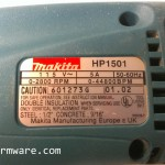 007a-Homer Hopper - Makita HP1501 Drill Label
