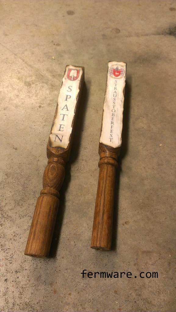 009-Stained tap handle