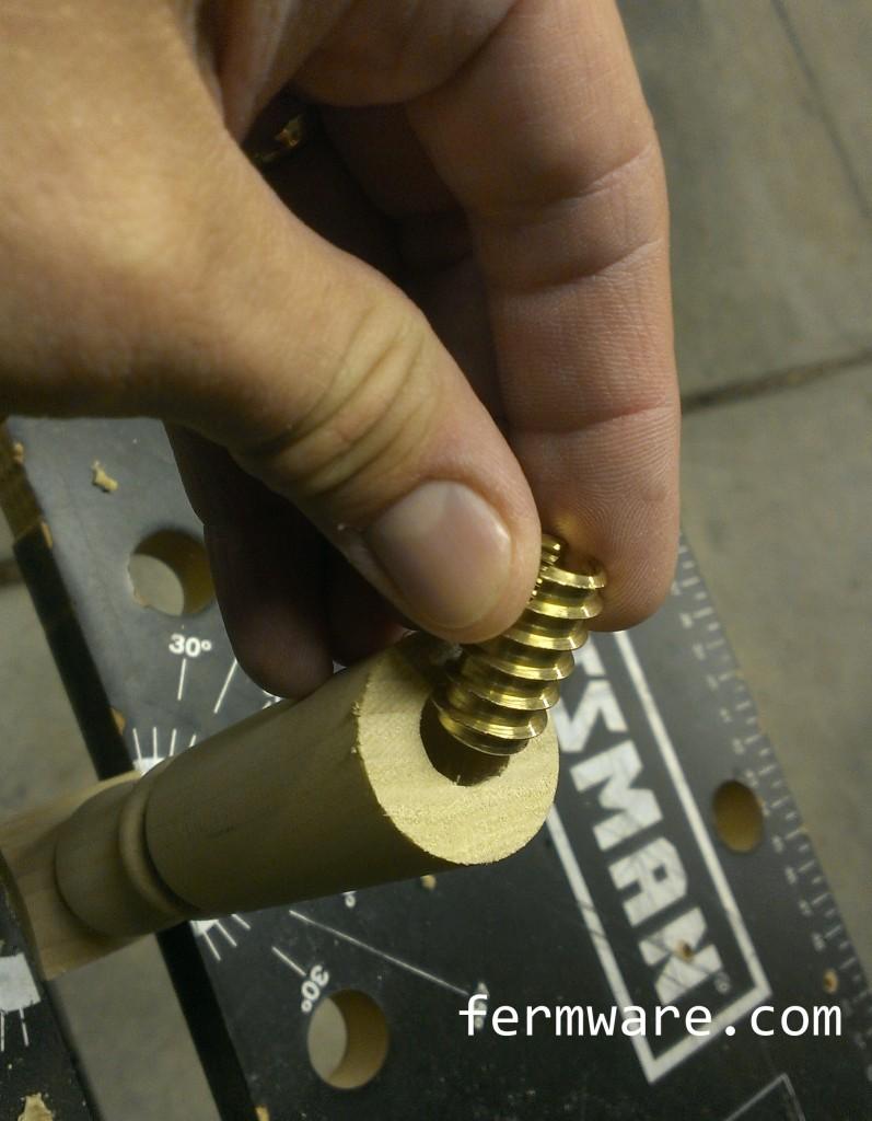 009-install brass insert 1