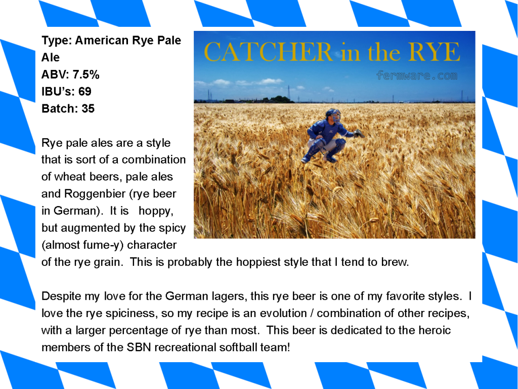 015-4 Catcher in the Rye label