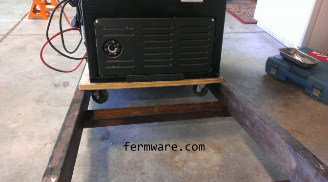 Mein Bierwagen Part 4 – Getting the Keezer onto the Bierwagen