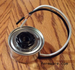 020-Fermentation Chamber Heater - candelabra socket installed in base