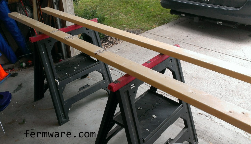 2x4 supports for door