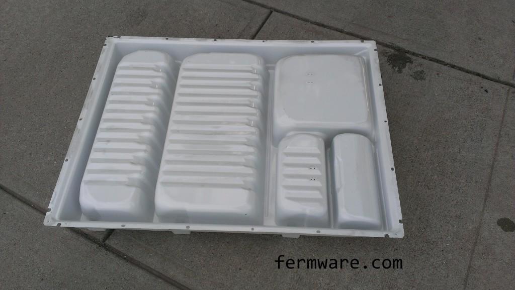 back side of fridge door