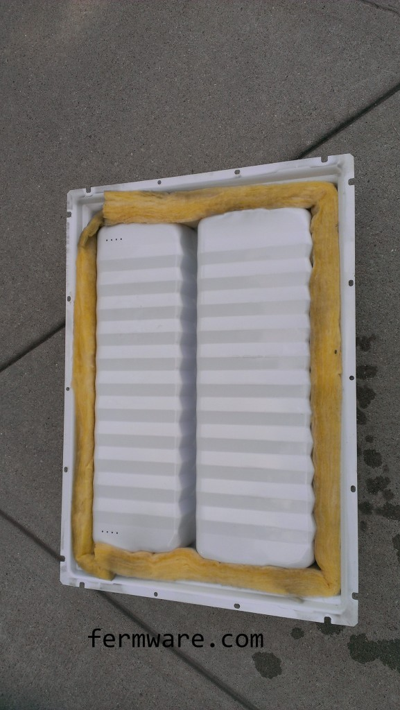 backside of freezer door