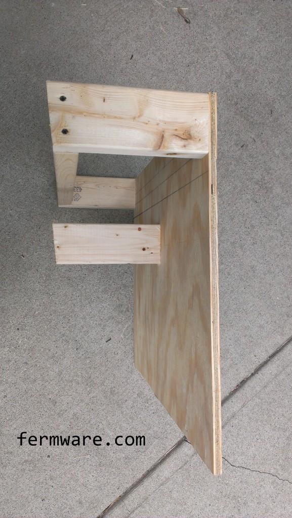 bottom shelf side view