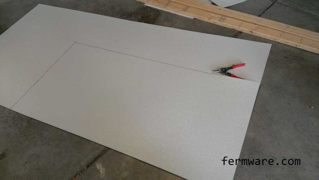 lines laid out on FRP