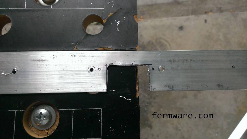 notch for door handle